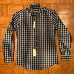 NWT Men's Bar III Slim Check Dress Shirt 15 1/2